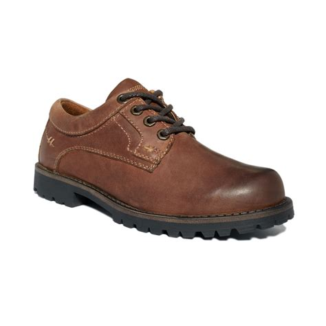 dockers shoes dockers sandhurst plain toe oxford shoes in brown for