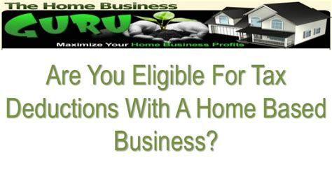 Mba Tuition Deduction Irs by The Home Business Guru Home Biz Tax Deductions