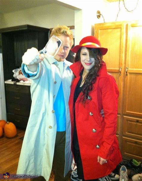 tintin  carmen sandiego couple halloween costume