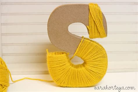 Yarn Covered Letters ortega diy yarn wrapped letters