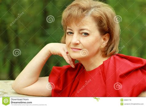 beautiful middle aged woman beautiful smiling middle aged woman royalty free stock