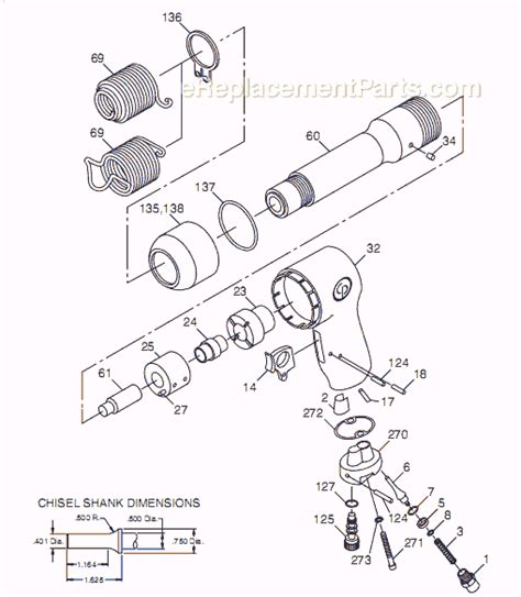 Chicago Pneumatic Cp714 Parts List And Diagram T012735
