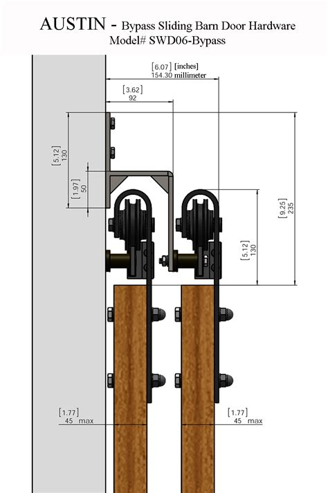 Austin Bypass Sliding Barn Door Hardware Barn Sliding Door Hardware