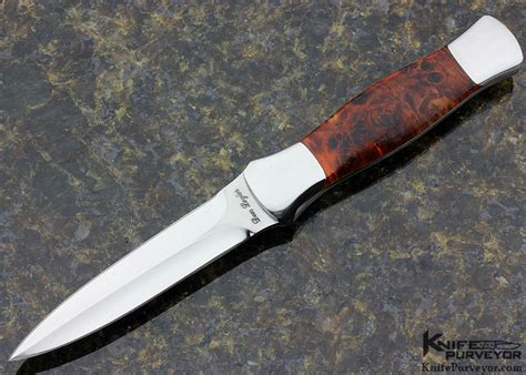 don lozier knives don lozier presentation grade maple burl edc dagger knifepurveyor