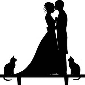 wedding cake topper silhouette groom and bride acrylic cake topper 2304567 weddbook