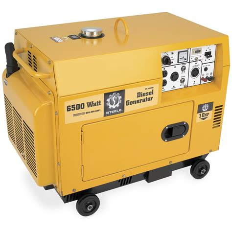 diesel powered steel 174 products 6 500 watt generator