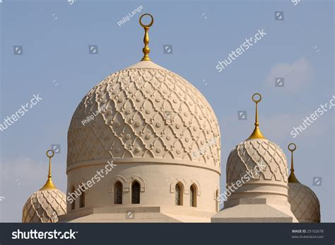 Cupola Dubai Cupolas Of The Jumeirah Mosque In Dubai Stock Photo