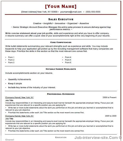 Resume Template Site by Free 40 Top Professional Resume Templates