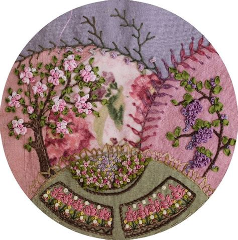Wisteria Patchwork - 17 best images about ribbon embroidery needle work on