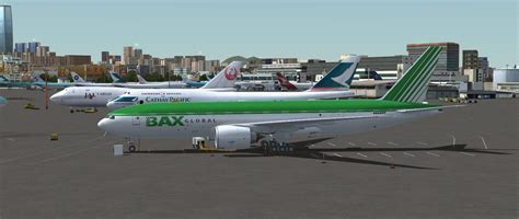 bax global boeing 777f for fsx