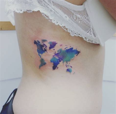watercolor tattoo world map 101 girly tattoos you ll wish you had this summer