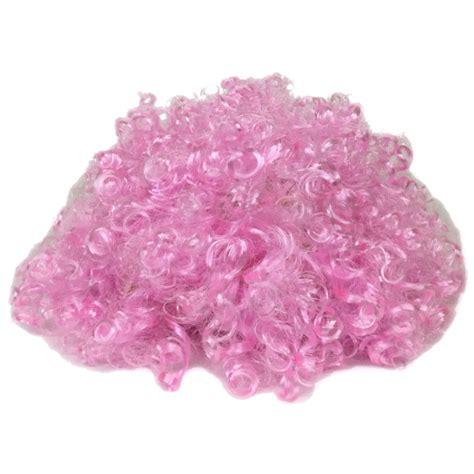 light pink costume costume curly wig light pink