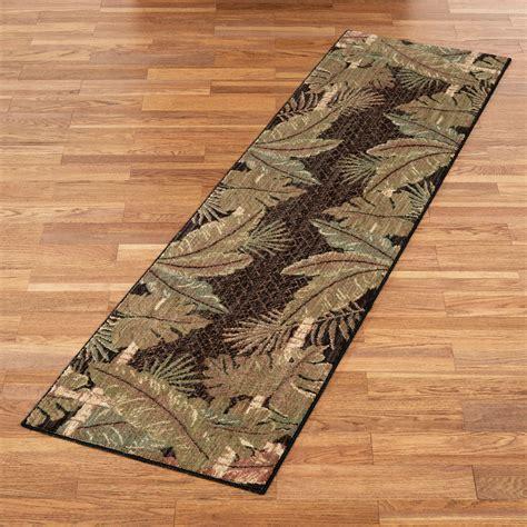 pet rugs runners pet friendly sarasota tropical leaf rug runner