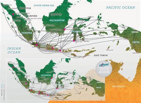 domestic flight routes garuda indonesia
