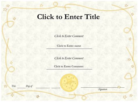 editable certificate template word editable certificate of completion templates