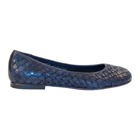 navy flat shoes dip dyed navy blue nappa leather ballerina flat