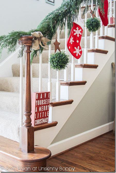 Decorating Banisters For by 40 Festive Banister Decorations Ideas All