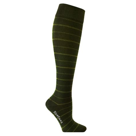 sock aid for teds compression green stripes with bamboo fibers