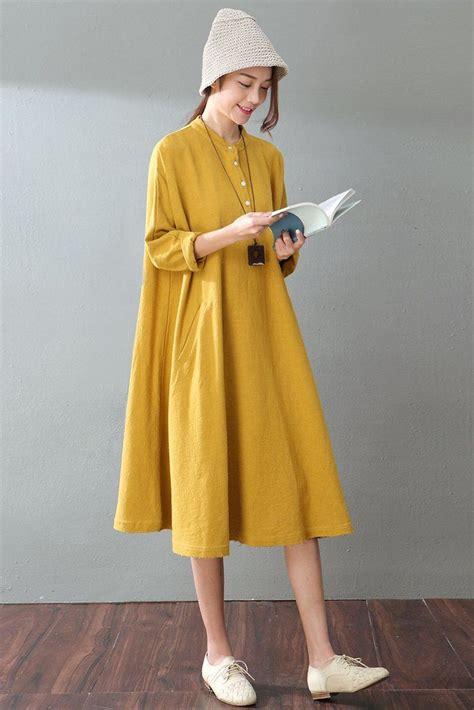 Linen Cotton Sleeve Dress best 25 linen dresses ideas on linen tunic