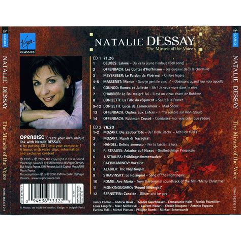 Natalie Dessay Popoli by The Miracle Of The Voice Cd2 Natalie Dessay Mp3 Buy Tracklist