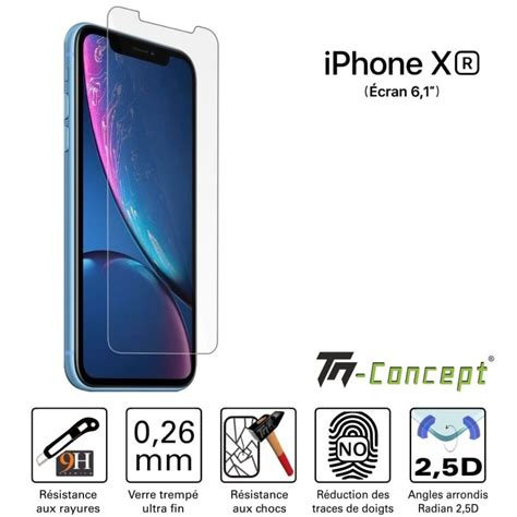 vitre de protection en verre tremp 233 apple iphone xr tm concept 174