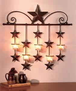 Metal Star Home Decor by Metal Rustic Barn Star Country Home Decor Wall Sconce 21 3