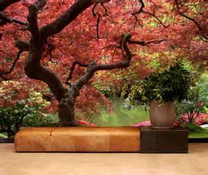 japanese garden wall mural peel amp stick wall fabric material japanese garden wall mural 6 wide by 8 high ebay