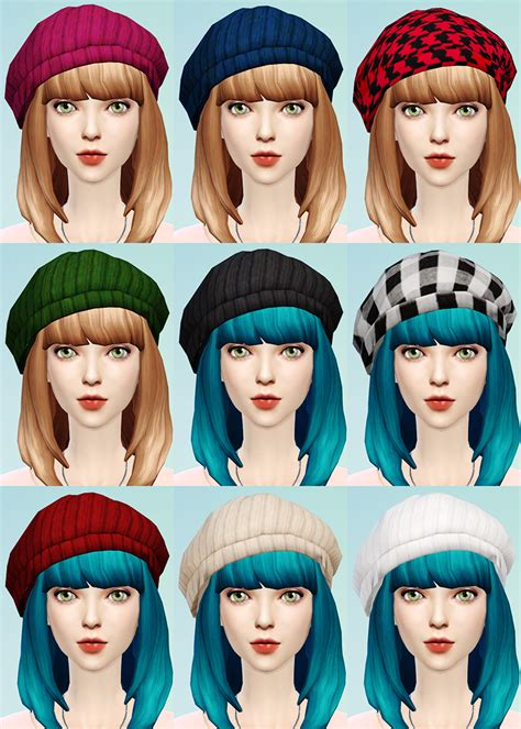 Cat Ear Beret knit beret and cat ear beanie jsboutique sims 4 creations
