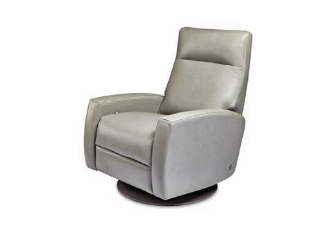 swivel base recliner american leather comfort recliner eva three chairs co