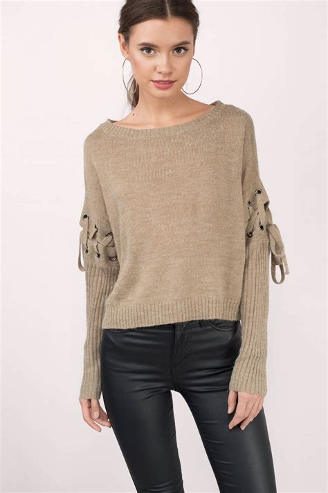 Sweater Lp Only You 1 if only lace up sweater 90 00 tobi