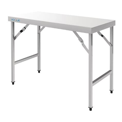 Folding Stainless Steel Table Pub Shop Catering Kitchen Tables Vogue Stainless Steel Folding Table
