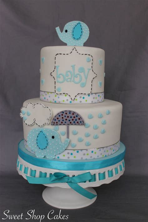 Elephant Baby Shower Cake by Friday Cake Club For 2 5 16 Cakecentral