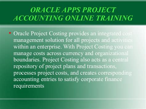 online tutorial project live oracle project accounting online training by real
