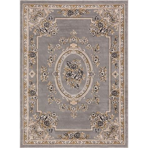 10 X 15 Area Rug Well Woven Timeless Le Petit Palais Gray 10 Ft 11 In X 15 Ft Traditional Area Rug 3638t The