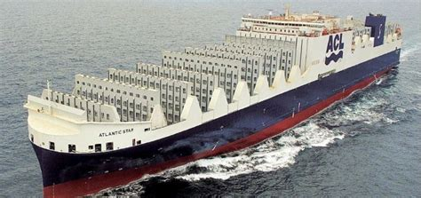biggest roro vessel in the world largest roro container ship delivered to acl