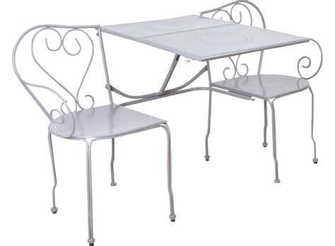banc jardin blanc banc de jardin convertible en table chaises classique