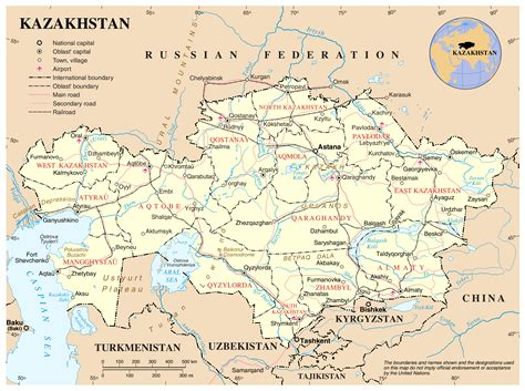 and map maps of kazakhstan detailed map of kazakhstan in