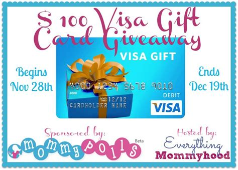Visa Gift Cards Kids - 100 visa gift card giveaway ends december 19th two kids and a coupon