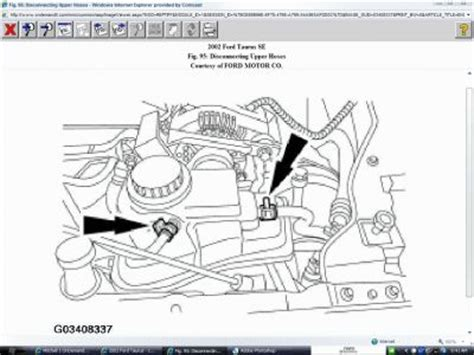 2002 ford taurus radiator hose diagram 2002 ford taurus coolant reservoir how do i replace the