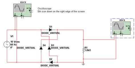 diode bridge in multisim hb12 14 diode bridge