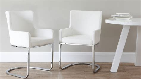 modern dining armchair modern designer faux leather chrome armchair uk exclusive