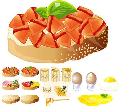 Food Design Pretty Delicious by Rich And Delicious Food Design Vector Free Vector In