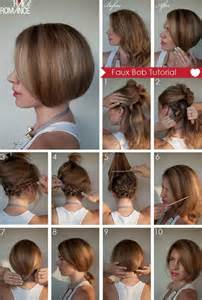 diy haircuts bob diy faux bob hairstyle do it yourself fashion tips diy