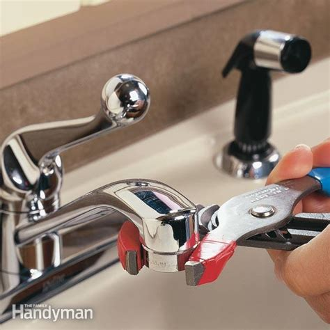 where is the aerator on a kitchen faucet unclog a kitchen faucet aerator the family handyman