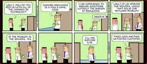 dilbert s wally on using knowledge knowledge futures