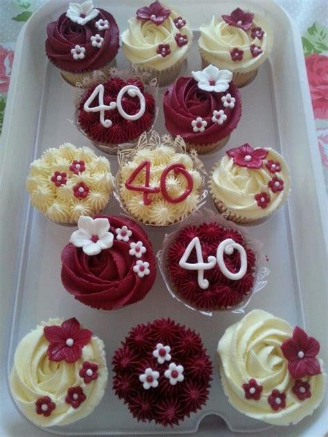 Wedding Anniversary Cupcakes by Ruby Wedding Anniversary Cupcakes Ruby