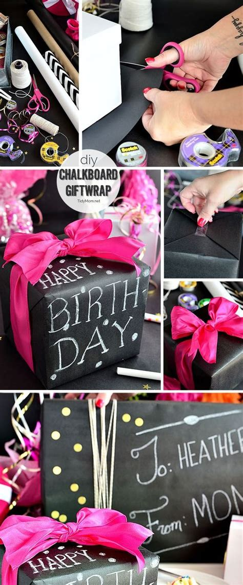 Diy Chalkboard Gift Wrap Birthdays Wraps And Gift Wrap
