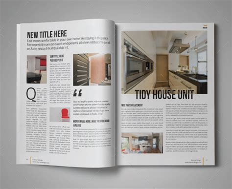 10 modern digital home magazine templates for free psd