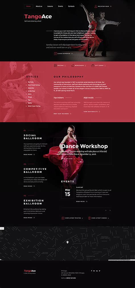 Tangoace Dance Studio Website Template Studio Website Template