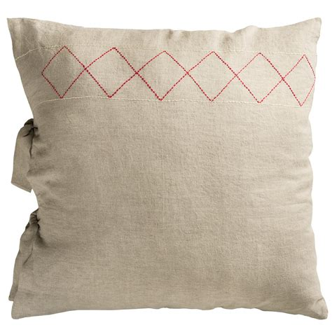 Linen Pillow Sham by Coyuchi Embroidered Linen Pillow Sham Save 41